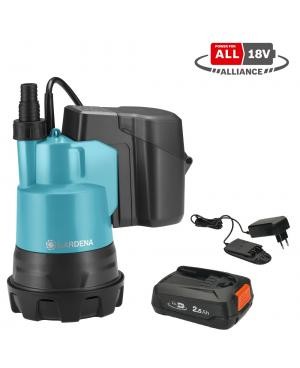 Аккумуляторный насос для чистой воды Gardena 2000/2 18V P4A Set (14600-20)