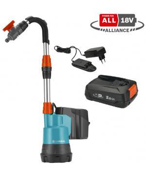 Аккумуляторный насос для резервуаров Gardena 2000/2 18V P4A Set (14602-20)