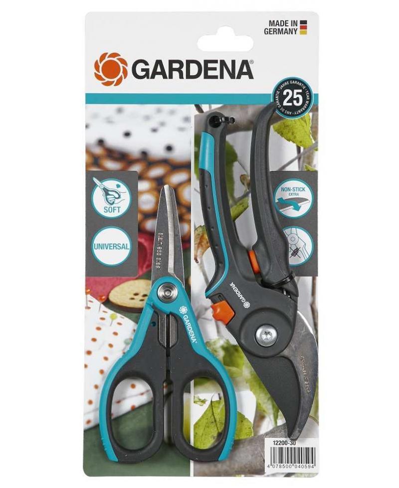 Секатор Gardena Comfort B/M и ножницы SchnippSchnapp (12200-20)