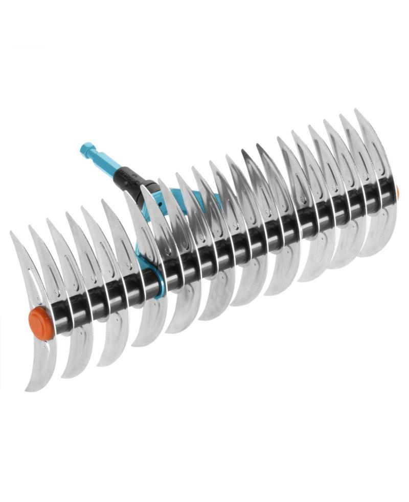 Граблі-аератор фрезеруючі двухсторонні для газонів Gardena Combisystem 35 см (03392-20)