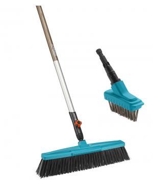 Комплект инструмента для очистки Gardena Combisystem щетка 45 см, щетка металлическая для щелей  и ручка деревянная 130 см (17350-20)