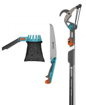 Набір садових інструментів Gardena CombiSystem з телескопічною ручкою 160-290 см (03720-30)