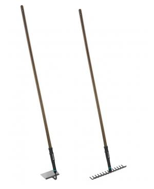 Набір садових інструментів Gardena NatureLine сапа 16 см, граблі металеві 36 см (17151-20)