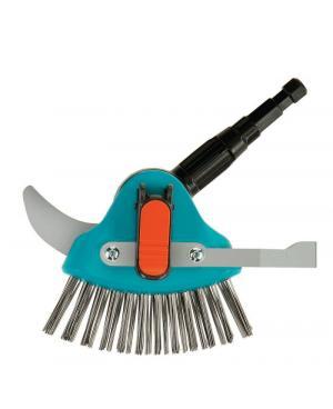 Очиститель щелей с ножом и щеткой Gardena Combisystem 3-в-1 (03608-20)