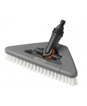 Щетка для водной очистки поворотная на шарнире Gardena Comfort Cleansystem 27х13 см жесткая (05562-20)