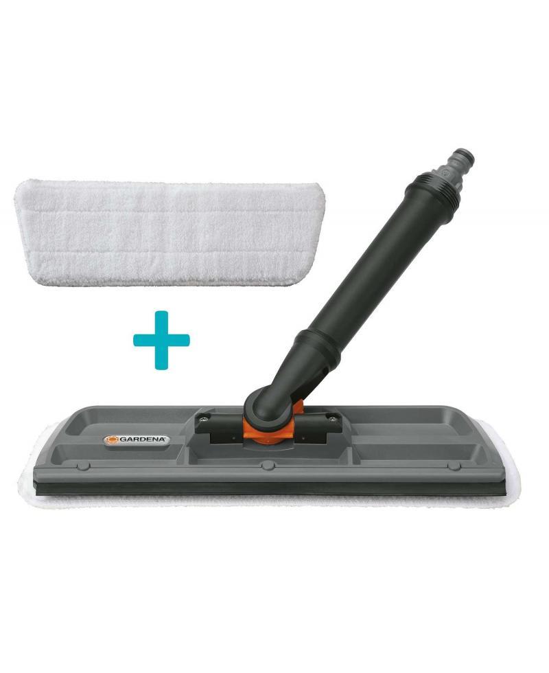 Щетка для водной очистки окон со скребком Gardena Cleansystem 31 см и микрофибра (09990-23)