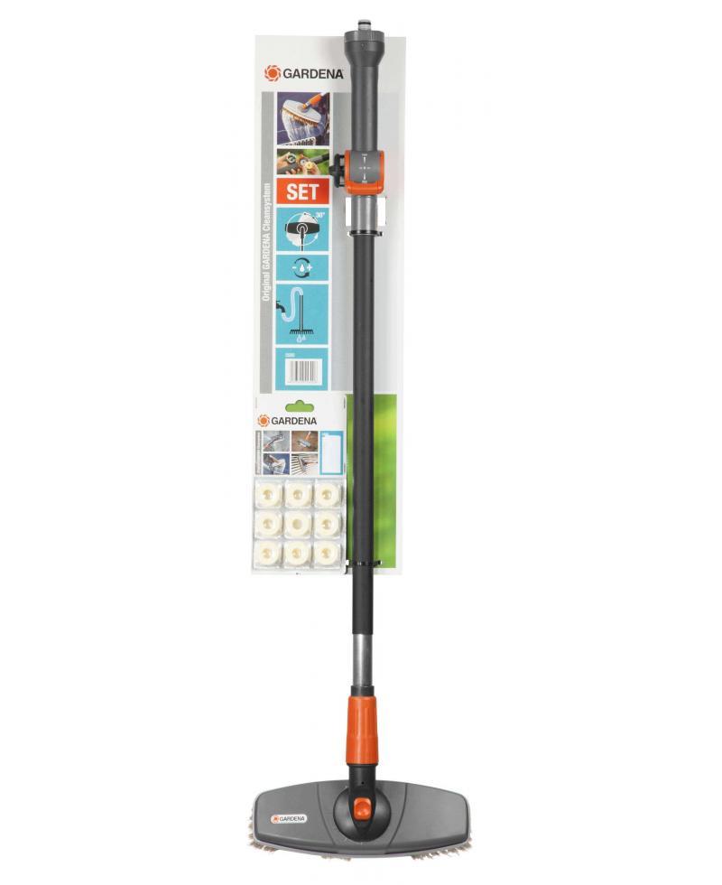 Комплект для миття автомобіля з поворотною щіткою Gardena Comfort Cleansystem 27 см (05580-20)