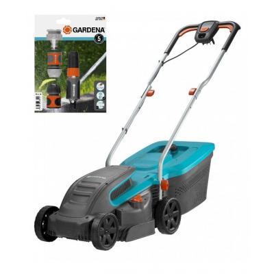 Электрическая газонокосилка Gardena PowerMax 1200/32 05032-20 и Набор для полива Classic 1/2 18295-34 (09804-29)