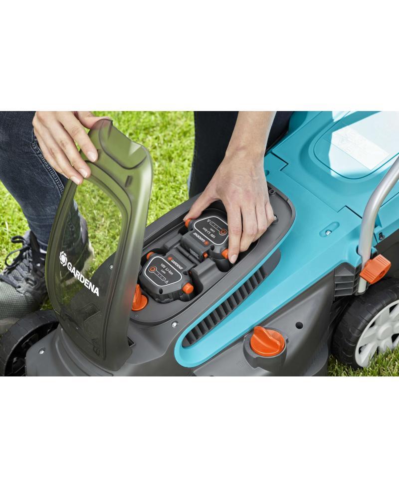 Акумуляторна газонокосарка Gardena PowerMax Li-18/32 без батареї і зарядного пристрою (05039-55)