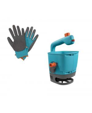 Разбрасыватель-сеялка Gardena М в наборе + перчатки для земли (00431-33)