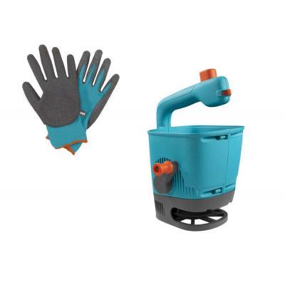Розкидувач-сівалка Gardena М в наборі + рукавички для землі (00431-33)