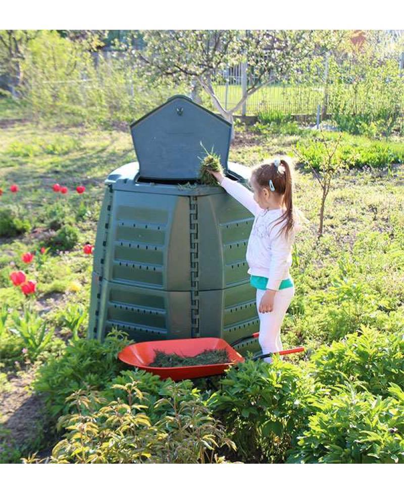 Компостер садовый Graf Thermo-Star 600 л, зеленый (600021)
