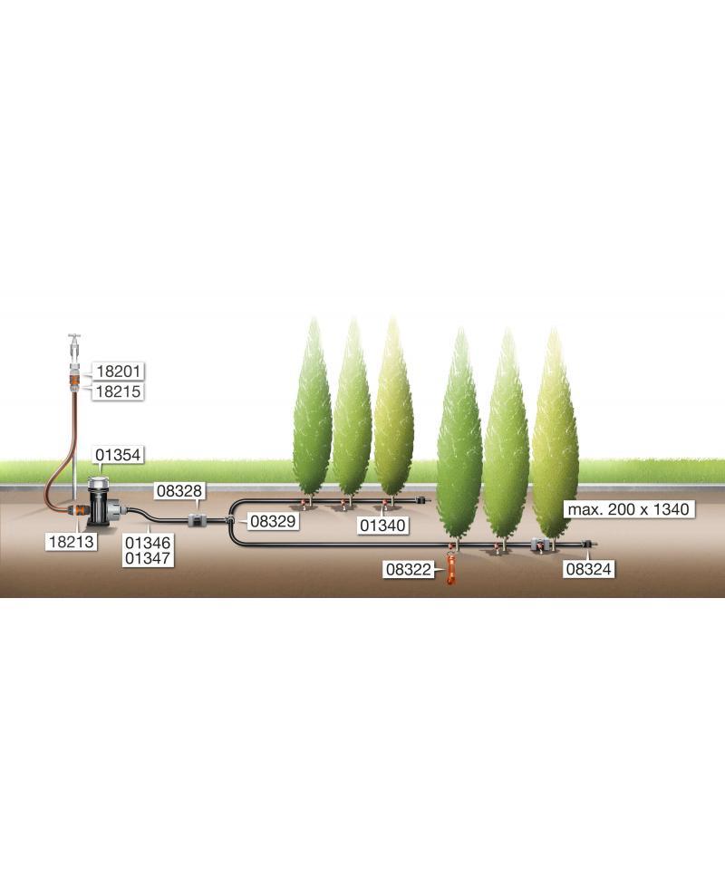 Заглушка Gardena Micro-Drip-System Quick & Easy для шлангів 13 мм (08324-29)
