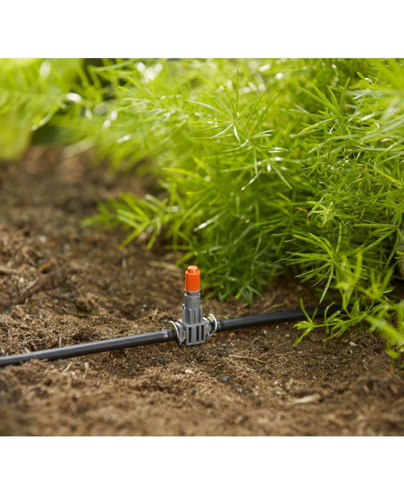 З'єднувач Т-подібний для мікронасадок Gardena Micro-Drip-System Quick & Easy для шлангів 4,6 мм (08332-29)