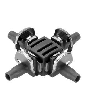 Соединитель крестообразный Gardena Micro-Drip-System Quick & Easy для шлангов 4,6 мм, 10 шт (08334-29)