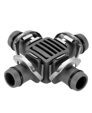 Соединитель крестообразный Gardena Micro-Drip-System Quick & Easy для шлангов 13 мм, 2 шт (08339-29)