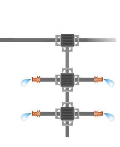 З'єднувач хрестоподібний Gardena Micro-Drip-System Quick & Easy для шлангів 13 мм (08339-29)