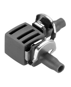 Соединитель L-образный Gardena Micro-Drip-System Quick & Easy для шлангов 4,6 мм, 10 шт (08381-29)