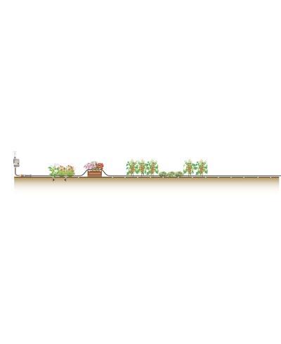 Комплект мікрокрапельного поливу Gardena Micro-Drip-System для рядного поливу 4,6 мм 15 м (01361-37)