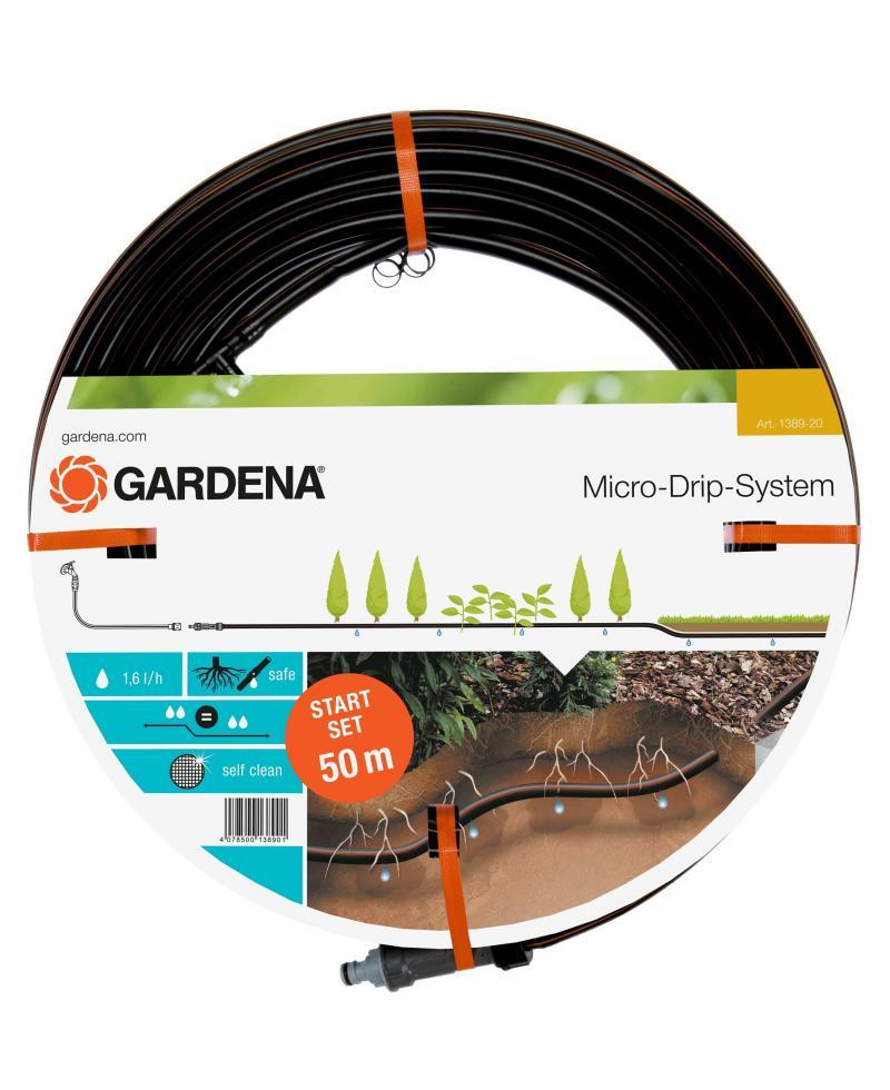 Комплект мікрокрапельного поливу Gardena Micro-Drip-System для підземної прокладки 13,7 мм 50 м (01389-20)