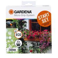 Комплект мікрокрапельного поливу Gardena Micro-Drip-System базовий на 5 квіткових ящиків (01402-20)