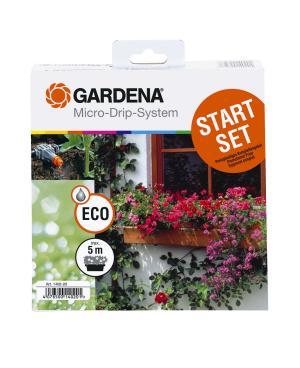 Комплект микрокапельного полива Gardena Micro-Drip-System базовый на 5 цветочных ящиков (01402-20)