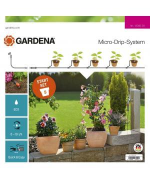 Комплект мікрокраплинного поливу Gardena Micro-Drip-System для квіткових горщиків S (13000-20)