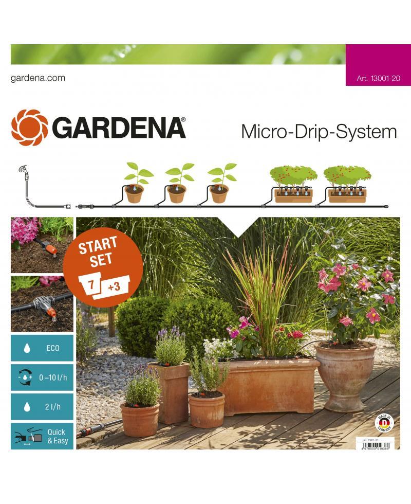 Комплект мікрокрапельного поливу Gardena Micro-Drip-System базовий (13001-20)