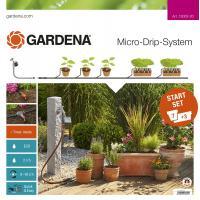 УЦЕНКА - незначительное повреждение упаковки - Комплект микрокапельного полива Gardena Micro-Drip-System базовый с таймером (13002-20)