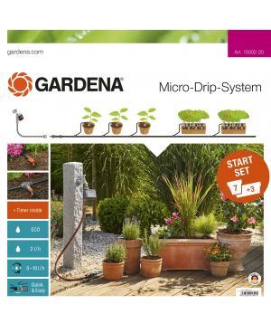 Комплект микрокапельного полива Gardena Micro-Drip-System базовый с таймером (13002-20)
