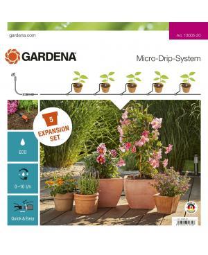 Комплект для расширения микрокапельного полива Gardena Micro-Drip-System на 5 горшков (13005-20)