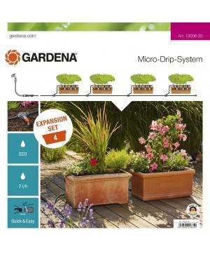 Комплект для расширения микрокапельного полива Gardena Micro-Drip-System на 4 цветочных ящика (13006-20)