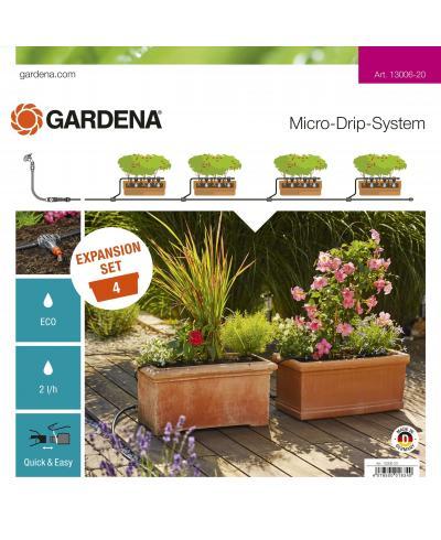 Комплект для розширення мікрокрапельного поливу Gardena Micro-Drip-System на 4 квіткових ящика (13006-20)