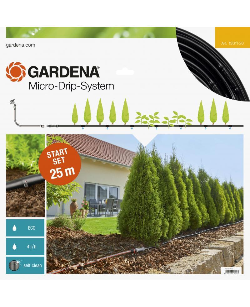 Комплект мікрокрапельного поливу Gardena Micro-Drip-System для рядного поливу 25 м (13011-20)