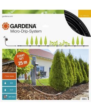 Комплект мікрокрапельного поливу з таймером Gardena Micro-Drip-System для рядного поливу 25 м (13012-20)