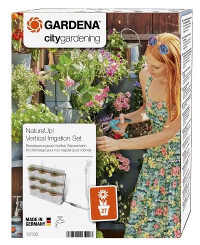 Комплект мікрокрапельного поливу Gardena Micro-Drip-System NatureUp на 9 вертикальних горщиків (13156-20)