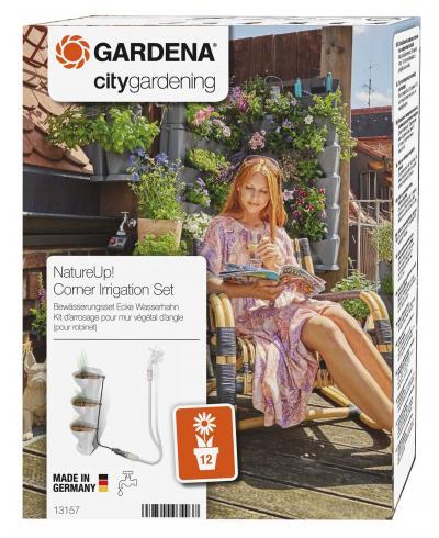 Комплект мікрокрапельного поливу Gardena Micro-Drip-System NatureUp на 12 кутових горщиків (13157-20)