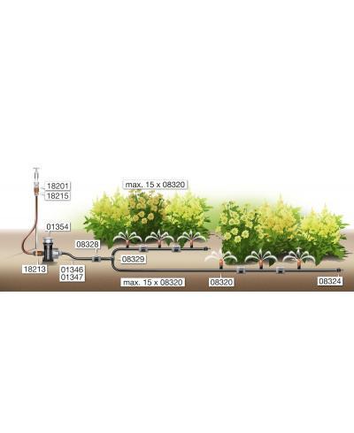 Мікродощувач Gardena Micro-Drip-System для малих площ (08320-29)