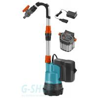 Аккумуляторный насос для резервуаров Gardena 2000/2 Li-18 Set (01749-20)