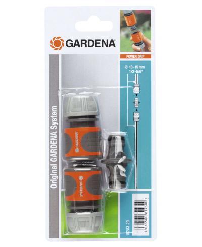 """Комплект з'єднувачів з перехідником Gardena 13 мм (1/2""""), 15 мм (5/8"""") (18283-20)"""