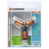 Комплект з'єднувачів Gardena з трійником 13 мм 1/2 (18287-20)