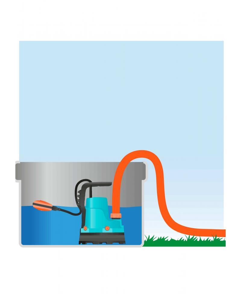 Насос дренажный для чистой воды Gardena 7000/C (01661-20)