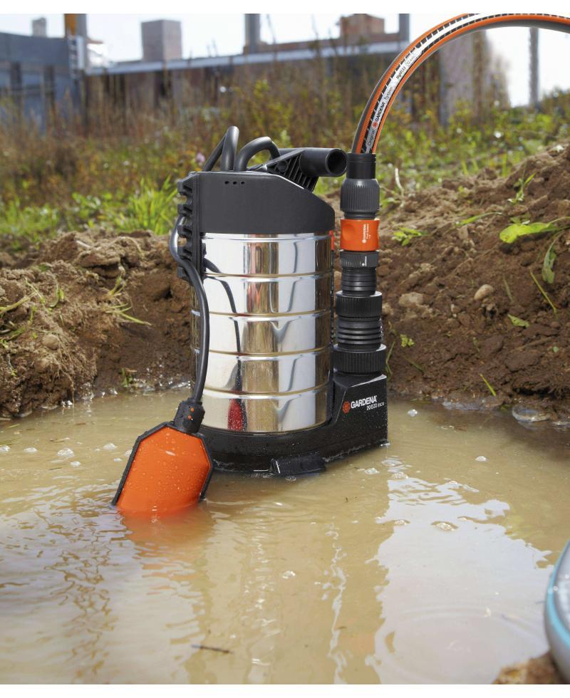 Насос дренажный для грязной воды Gardena 20000 Inox Premium (01802-20)