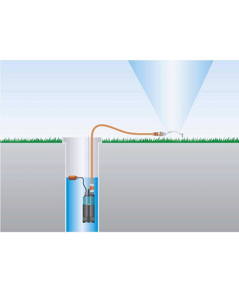 УЦЕНКА - незначительное повреждение коробки - 2015 года насос - Насос погружной высокого давления Gardena Classic 5500/3 (01461-20)
