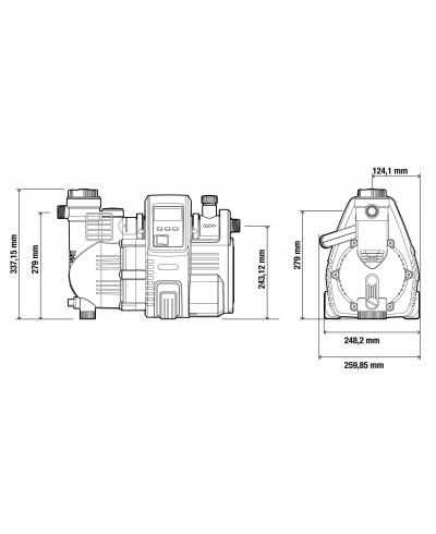 Насос напірний автоматичний з ЖК-дисплеєм Gardena Comfort 5000 / 5E LCD Automatic (01759-20)