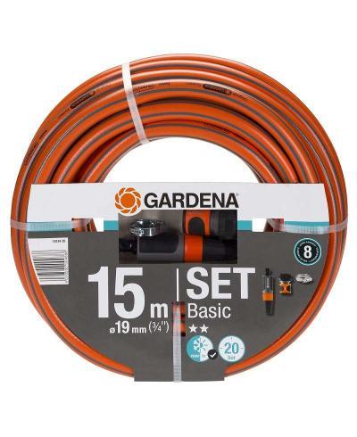"""Шланг с комплектом для полива от насоса Gardena Basic 19 мм (3/4""""), 15 м Set (18134-29)"""