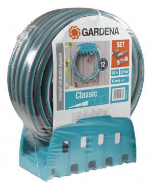 """Шланг з кронштейном і комплектом для поливу Gardena Classic 13 мм (1/2 """"), 20 м Set (18005-20)"""