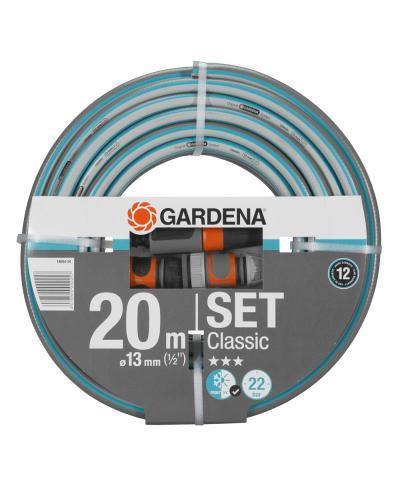 """Шланг с комплектом для полива Gardena Classic 13 мм (1/2""""), 20 м Set (18004-20)"""