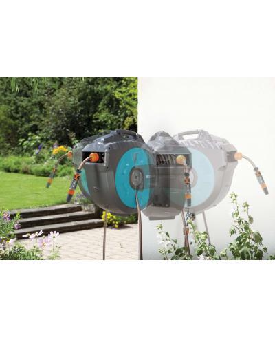 Котушка зі шлангом Gardena 25 Roll-Up Automatic настінна (08023-20)