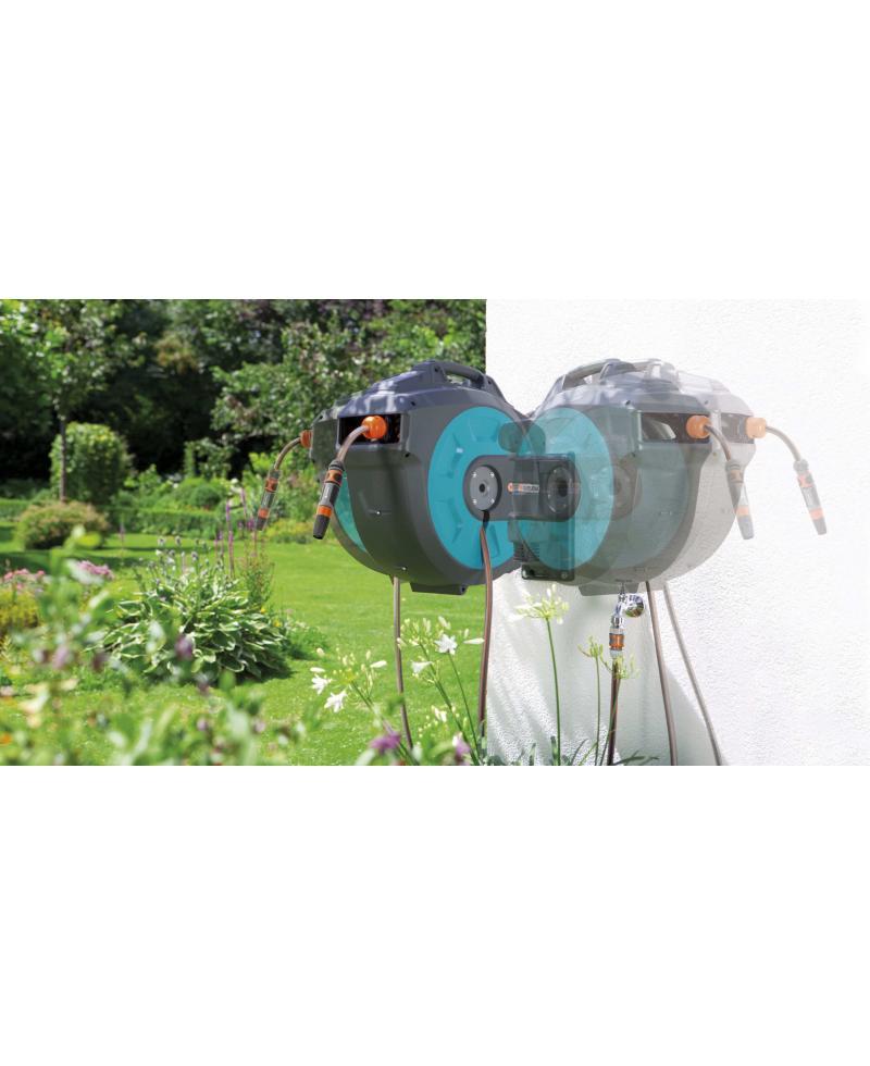 Котушка зі шлангом Gardena 35 Roll-Up Automatic настінна (08024-20)